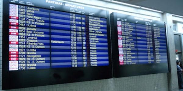 Aeroportos de Congonhas e Viracopos recebem videowalls para informação sobre voos (Foto: Divulgação Infraero)