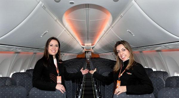"""Gol recebe Boeing 737 com """"Sky Interior"""" e com performance de motores melhorada (Foto: Divulgação Gol)"""