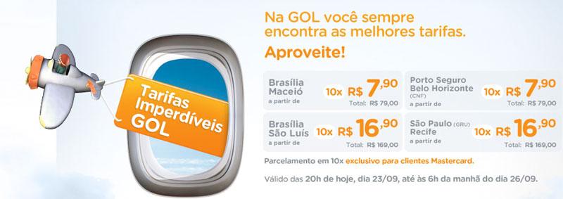 GOL faz promoção para quem decidiu viajar em cima da hora, com bilhetes a partir de R$79