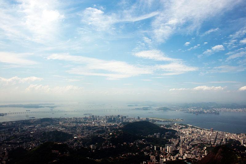 Vista do Rio de Janeiro no alto do Cristo Redentor em nossa última visita a cidade (Foto: Carlos Pecuch)