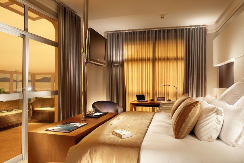Um dos quartos do Parque Balneário Hotel