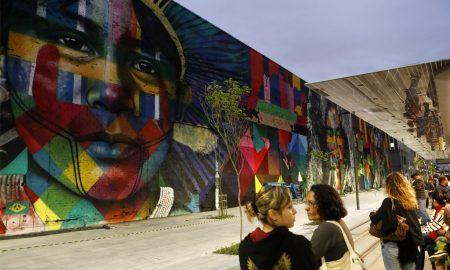 Mural Etnias, Rio de Janeiro (Kobra) - Foto: Fernando Frazão/Agência Brasil