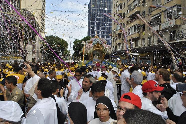 Procissão do Círio de Nazaré. Crédito: Diretoria da Festa de Nazaré em Belém