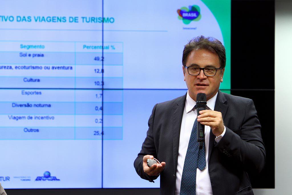 Presidente Vinicius Lummertz durante audiência sobe Parques Naturais na Câmara dos Deputados (Foto: Divulgação/Embratur)