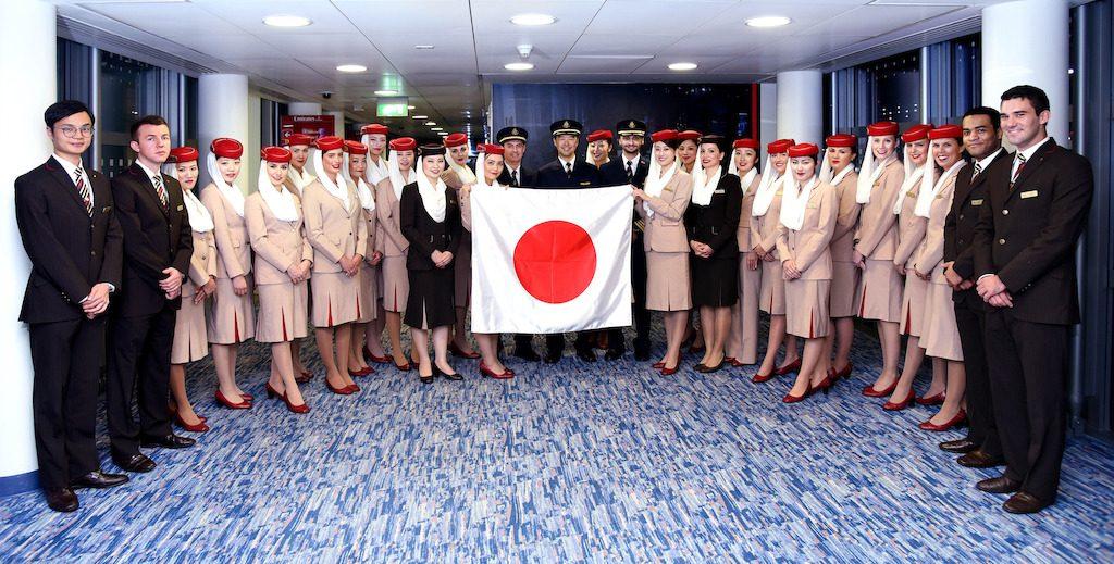 EK318 marca a reintrodução do Emirates A380 para Narita, Japão.