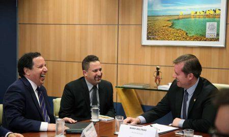 Ministro do Turismo, Marx Beltrão recebe Sr Khemaies Jhinaoui (Foto: Roberto Castro/MTur)