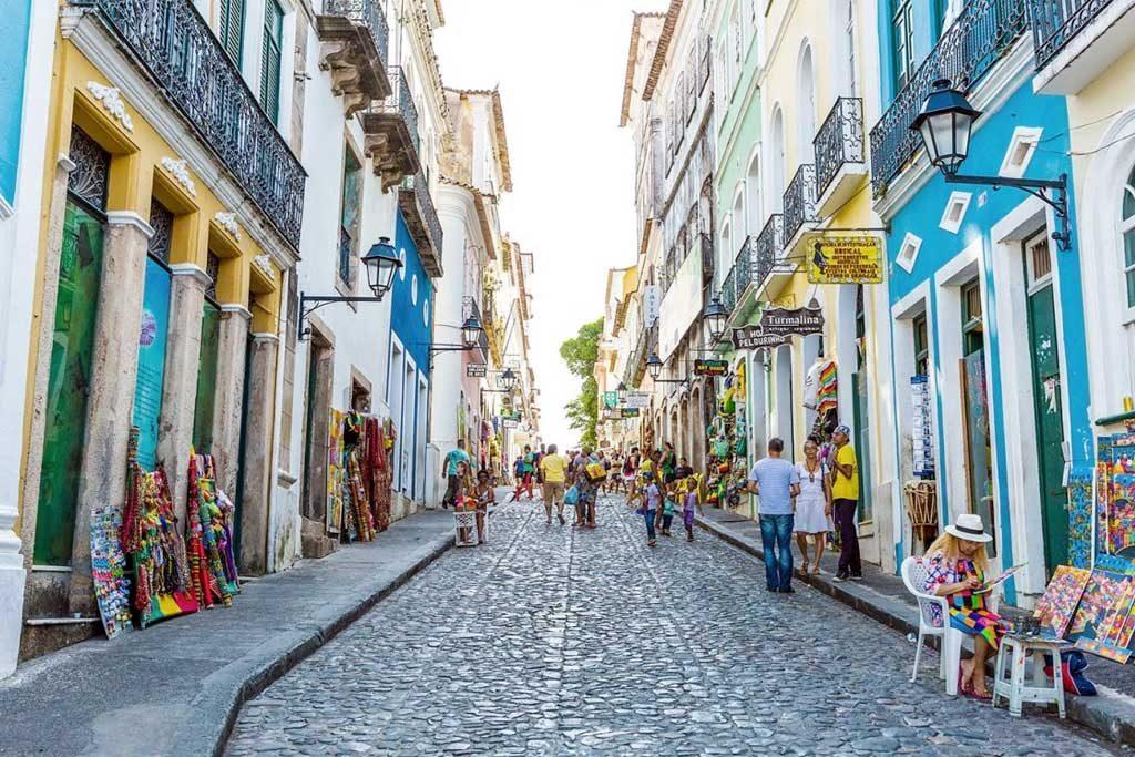 44% dos brasileiros nunca fizeram turismo no país - Pelourinho, centro histórico de Salvador, Bahia.