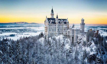 Castelo de Neuschwanstein no sudoeste da Baviera